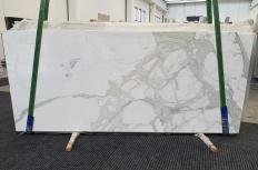Fornitura lastre grezze lucide 2 cm in marmo naturale CALACATTA ORO 1244. Dettaglio immagine fotografie