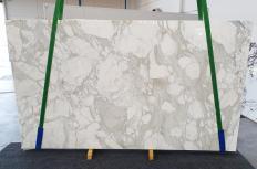 Fornitura lastre grezze lucide 3 cm in marmo naturale CALACATTA ORO 1274. Dettaglio immagine fotografie