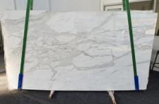 Fornitura lastre grezze lucide 2 cm in marmo naturale CALACATTA ORO 1286. Dettaglio immagine fotografie