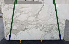 Fornitura lastre grezze lucide 2 cm in marmo naturale CALACATTA ORO 1227. Dettaglio immagine fotografie
