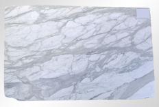 Fornitura lastre grezze levigate 2 cm in marmo naturale CALACATTA ORO M2020088. Dettaglio immagine fotografie