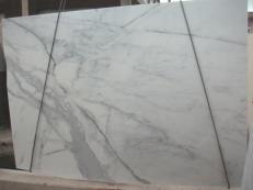 Fornitura lastre grezze lucide 3 cm in marmo naturale CALACATTA ORO E-O843. Dettaglio immagine fotografie