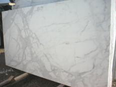 Fornitura lastre grezze lucide 3 cm in marmo naturale CALACATTA ORO EM_0472. Dettaglio immagine fotografie
