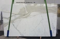 Fornitura lastre grezze lucide 2 cm in marmo naturale CALACATTA ORO GL 972. Dettaglio immagine fotografie