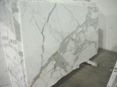 Fornitura lastre grezze lucide 2 cm in marmo naturale CALACATTA ORO EDM24267. Dettaglio immagine fotografie