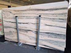 Fornitura lastre grezze lucide 0.8 cm in marmo naturale CALACATTA SAINT TROPEZ A0128. Dettaglio immagine fotografie