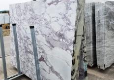 Fornitura lastre grezze segate 2 cm in marmo naturale CALACATTA VAGLI ROSATO Z0386. Dettaglio immagine fotografie