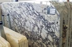 Fornitura lastre grezze lucide 2 cm in marmo naturale CALACATTA VAGLI ROSATO AA T0400. Dettaglio immagine fotografie