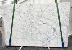 Fornitura lastre lucide 3 cm in marmo naturale CALACATTA VAGLI VENA FINA 1201. Dettaglio immagine fotografie