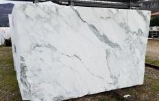 Fornitura blocchi segati a diamante 180 cm in marmo naturale calacatta vagli Z0391. Dettaglio immagine fotografie