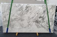 Fornitura lastre grezze lucide 2 cm in marmo naturale CALACATTA VAGLI 1300. Dettaglio immagine fotografie