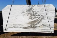 Fornitura lastre grezze segate 2 cm in marmo naturale CALACATTA VAGLI U0434. Dettaglio immagine fotografie