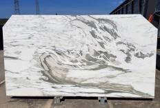 Fornitura lastre grezze lucide 2 cm in marmo naturale CALACATTA VAGLI U0434. Dettaglio immagine fotografie