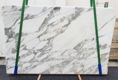 Fornitura lastre grezze lucide 3 cm in marmo naturale CALACATTA VAGLI 1396. Dettaglio immagine fotografie