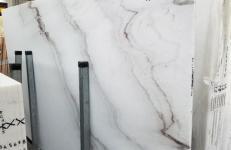 Fornitura lastre grezze lucide 2 cm in marmo naturale CALACATTA VENDOME 1402M. Dettaglio immagine fotografie