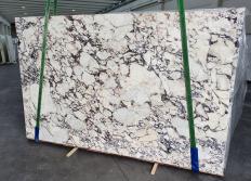 Fornitura lastre grezze lucide 3 cm in marmo naturale CALACATTA VIOLA 1291. Dettaglio immagine fotografie