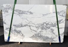 Fornitura lastre grezze lucide 2 cm in marmo naturale CALACATTA 1301. Dettaglio immagine fotografie