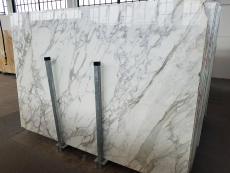 Fornitura lastre grezze lucide 2 cm in marmo naturale CALACATTA A0256. Dettaglio immagine fotografie