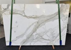 Fornitura lastre grezze lucide 2 cm in marmo naturale CALACATTA 1310. Dettaglio immagine fotografie