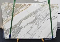 Fornitura lastre grezze lucide 3 cm in marmo naturale CALACATTA 1344. Dettaglio immagine fotografie