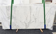 Fornitura lastre grezze levigate 2 cm in marmo naturale CALACATTA 14271. Dettaglio immagine fotografie