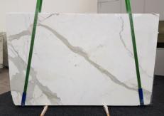 Fornitura lastre grezze lucide 3 cm in marmo naturale CALACATTA GL 1108. Dettaglio immagine fotografie