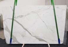Fornitura lastre grezze levigate 3 cm in marmo naturale CALACATTA GL 1108. Dettaglio immagine fotografie
