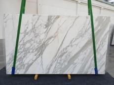 Fornitura lastre grezze lucide 2 cm in marmo naturale CALACATTA 1228. Dettaglio immagine fotografie