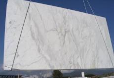 Fornitura lastre lucide 2 cm in marmo naturale CALACATTA E_COM0807. Dettaglio immagine fotografie