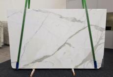Fornitura lastre levigate 3 cm in marmo naturale CALACATTA GL 1108. Dettaglio immagine fotografie
