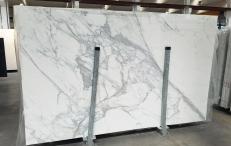 Fornitura lastre lucide 2 cm in marmo naturale CALACATTA 1426M. Dettaglio immagine fotografie
