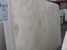 Fornitura lastre grezze lucide 2 cm in travertino naturale CORAL BEACH E_US231. Dettaglio immagine fotografie