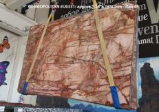 Fornitura lastre grezze lucide 2 cm in quarzite naturale COSMOPOLITAN U0331. Dettaglio immagine fotografie