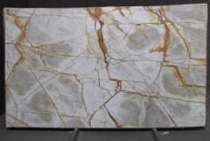 Fornitura lastre grezze lucide 2 cm in quarzite naturale CRISTALLO IMPERIALE DG027. Dettaglio immagine fotografie