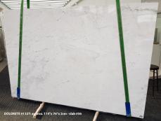 Fornitura lastre grezze lucide 2 cm in Dolomite naturale DOLOMITE ORION WHITE 1127. Dettaglio immagine fotografie