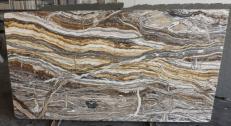 Fornitura lastre grezze lucide 2 cm in onice naturale fantasy brown onyx R682. Dettaglio immagine fotografie