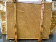 Fornitura lastre grezze lucide 2 cm in marmo naturale GIALLO NOCE SRC25131. Dettaglio immagine fotografie