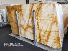 Fornitura lastre grezze lucide 2 cm in marmo naturale GIALLO SIENA S0237. Dettaglio immagine fotografie