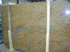 Fornitura lastre grezze lucide 2 cm in granito naturale GOLDEN OAK CV1_GOOA25. Dettaglio immagine fotografie