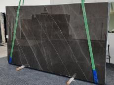 Fornitura lastre grezze lucide 3 cm in marmo naturale GRAFFITE 1324. Dettaglio immagine fotografie