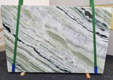 Fornitura lastre grezze lucide 2 cm in marmo naturale GREEN BEAUTY 1452. Dettaglio immagine fotografie