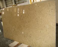 Fornitura lastre grezze levigate 2 cm in calcare naturale HALILA WITH FOSSILS - JS5555 J_07067. Dettaglio immagine fotografie