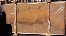 Fornitura lastre grezze lucide 2 cm in onice naturale HONEY ONYX 14361_L6. Dettaglio immagine fotografie