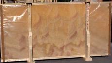 Fornitura lastre grezze lucide 2 cm in onice naturale HONEY ONYX 14361_L4. Dettaglio immagine fotografie
