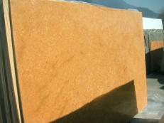 Fornitura lastre grezze lucide 2 cm in marmo naturale INCA GOLD EM_0391. Dettaglio immagine fotografie