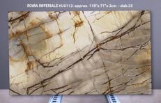 Fornitura lastre lucide 2 cm in quarzite naturale ISOLA BLUE U0112. Dettaglio immagine fotografie