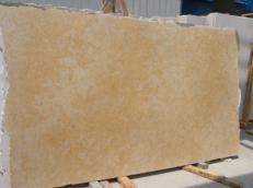 Fornitura lastre grezze levigate 3 cm in calcare naturale JERUSALEM GOLD DARK JS3632 J_07064. Dettaglio immagine fotografie