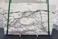 Fornitura lastre grezze lucide 2 cm in marmo naturale LILAC 1260. Dettaglio immagine fotografie