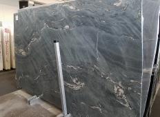 Fornitura lastre grezze spazzolate 2 cm in granito naturale MALAKITE Z0026. Dettaglio immagine fotografie