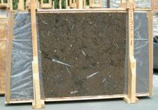 Fornitura lastre grezze lucide 2 cm in marmo naturale MARRON FOSSIL E-13771. Dettaglio immagine fotografie